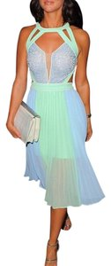 Other Chiffon Pleated Color-blocking Night Out Date Night Dress