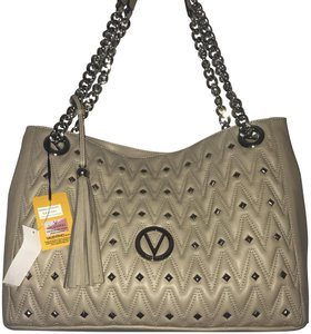 Valentino Leather Large Tote in beige