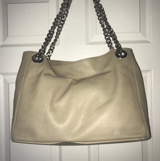 Valentino Leather Large Tote in beige Image 1