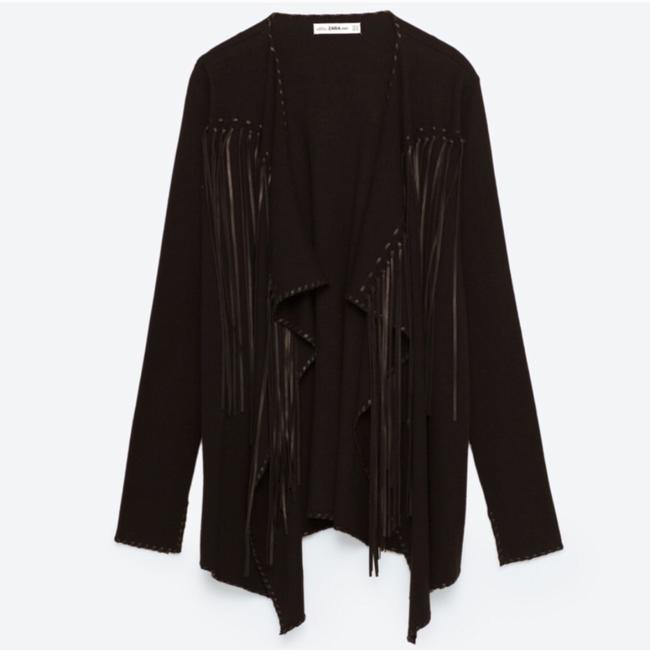 Zara Black Jacket Image 3