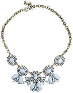 J.Crew White Stone & Crystal Statement Necklace