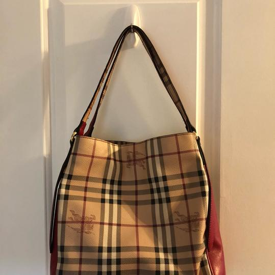 Burberry Tote in Military Red Image 10