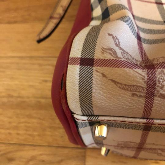 Burberry Tote in Military Red Image 8