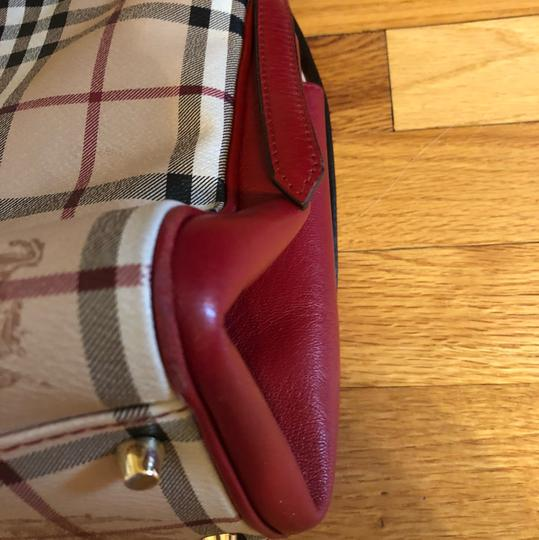 Burberry Tote in Military Red Image 9