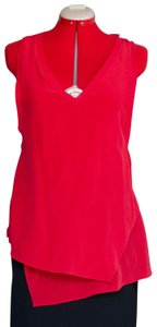 Trouvé Silk Cut-out Sleeveless Top Red