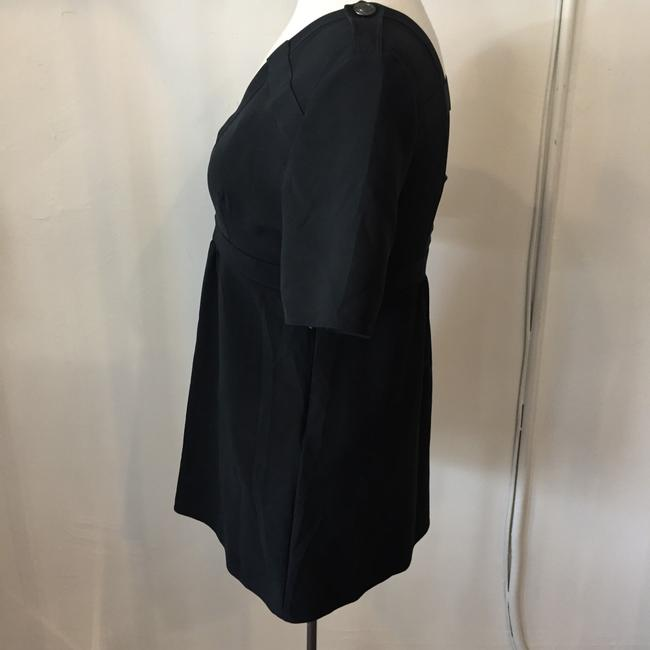 Burberry Silk Open Straps Buttons Top Black Image 1