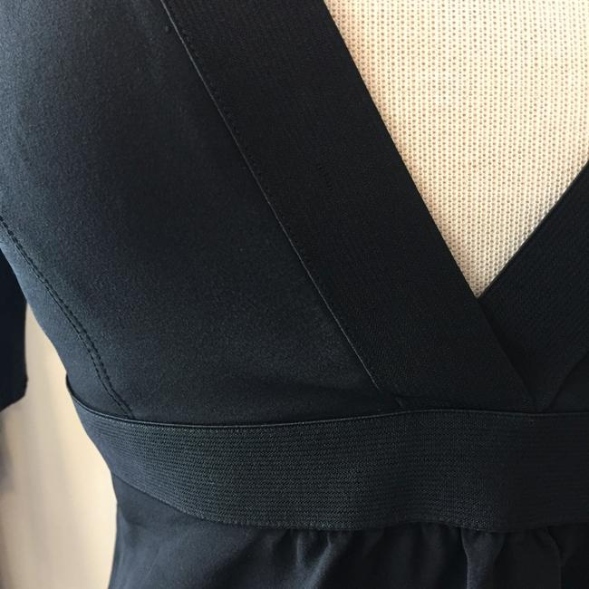 Burberry Silk Open Straps Buttons Top Black Image 4