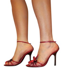 Sergio Rossi Flower Sexy Italy Red Sandals