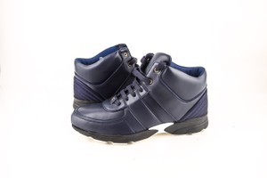 Chanel * Navy Calfskin/Satin Sneakers Shoes