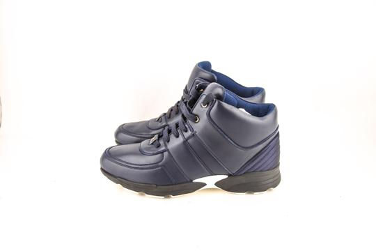 Chanel * Navy Calfskin/Satin Sneakers Shoes Image 2