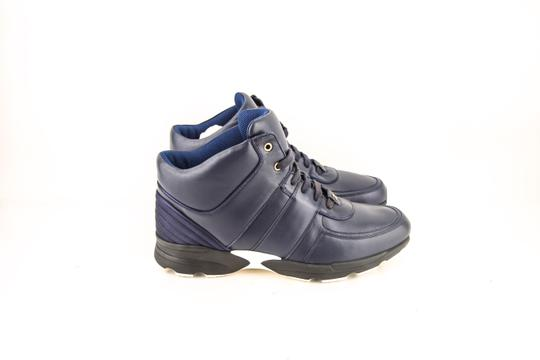 Chanel * Navy Calfskin/Satin Sneakers Shoes Image 3