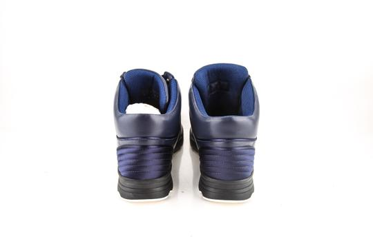 Chanel * Navy Calfskin/Satin Sneakers Shoes Image 4
