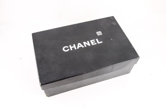 Chanel * Navy Calfskin/Satin Sneakers Shoes Image 7