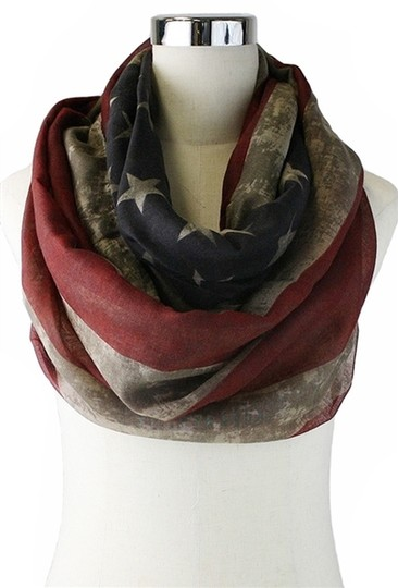 Other American Flag Vintage MultiTone INFINITY Scarf