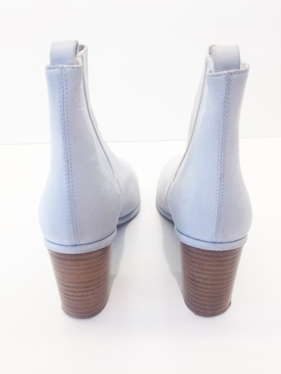 Opening Ceremony Pale Baby Blue Nubuck Suede Boots Image 1