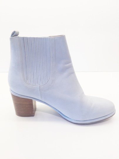 Opening Ceremony Pale Baby Blue Nubuck Suede Boots Image 3