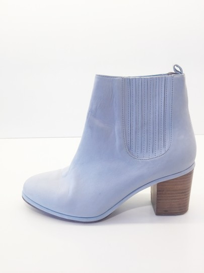 Opening Ceremony Pale Baby Blue Nubuck Suede Boots Image 5