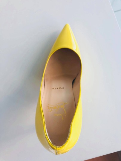 Christian Louboutin Pointed Toe Polished Red Soles Decollete Yellow Queen Pumps Image 7