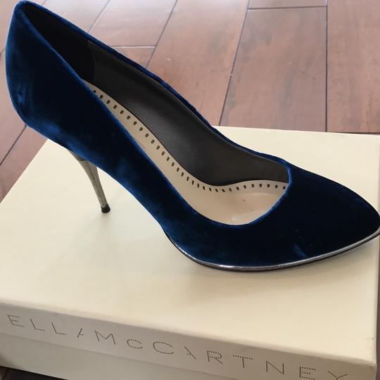 Stella McCartney Deep/marine blue Pumps Image 9