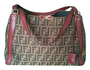 Fendi Tote in Tobacco/Bordeaux