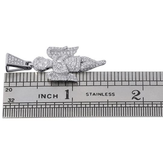 Jewelry For Less 10K White Gold Diamond Praying Angel with Wings Pendant Charm 0.66 ct Image 3