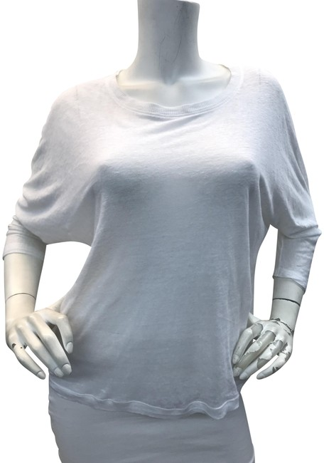 Vince Relaxed Sheer T Shirt White Image 0
