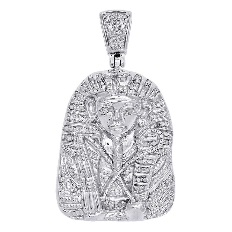Jewelry for less white gold 10k real diamond pharaoh king tut jewelry for less white gold 10k real diamond pharaoh king tut pendant 020 ct charm aloadofball Gallery