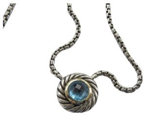 David Yurman David Yurman Blue Topaz Cookie Necklace