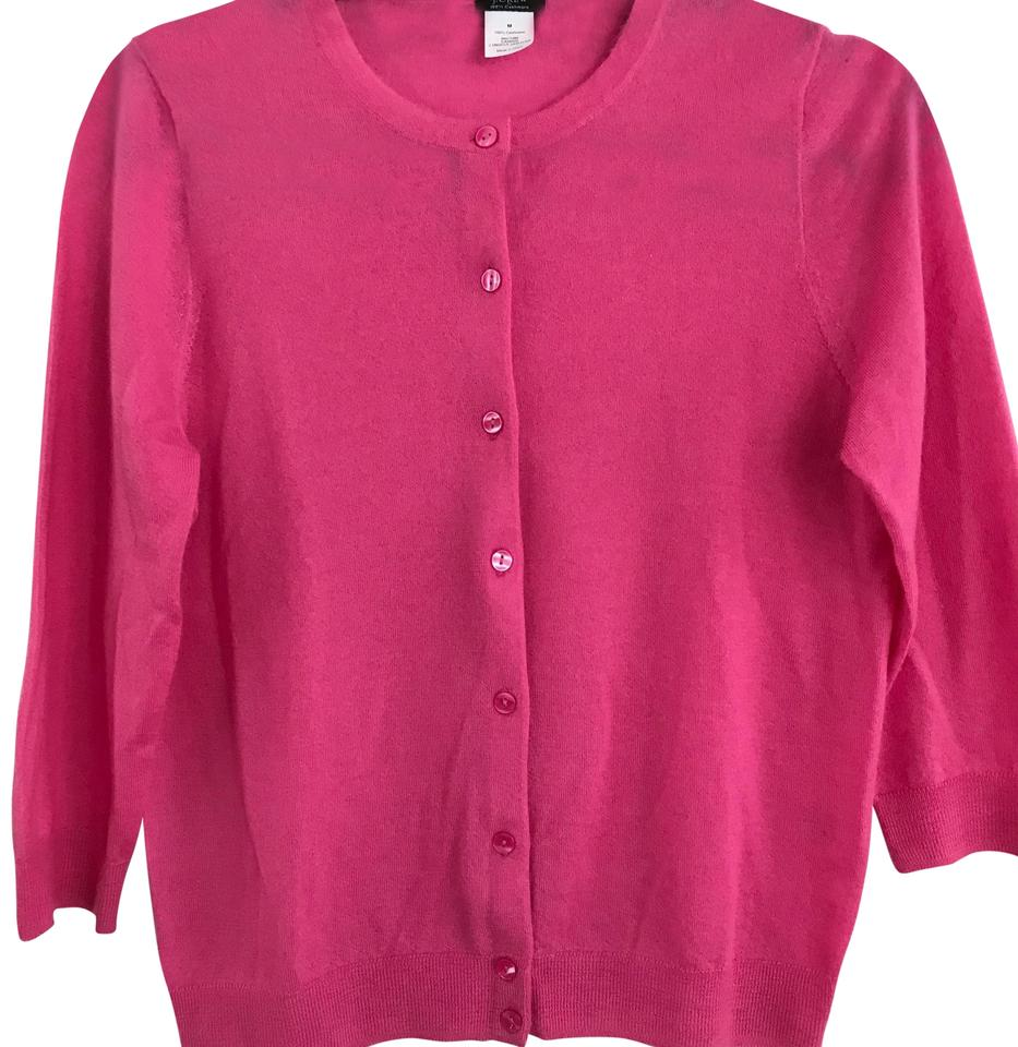 low priced 100% quality timeless design J.Crew Bright Cardigan Hot Pink Sweater 70% off retail