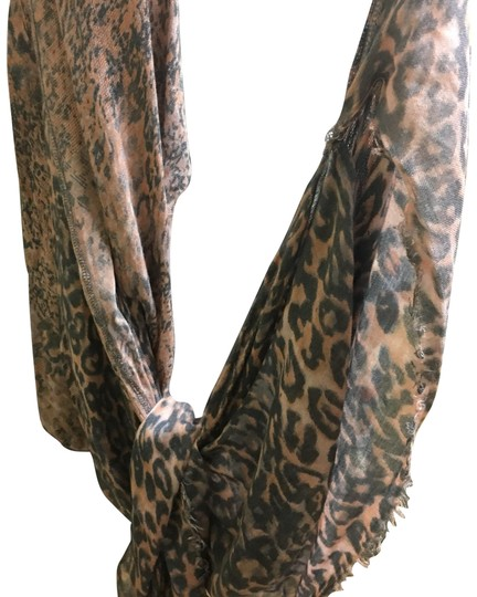 Free People printed soft wrap scarf Image 0