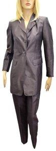 Whistles Whistles Brown 100% Silk Pants Suit Made In Italy Size 6 On Sale ps