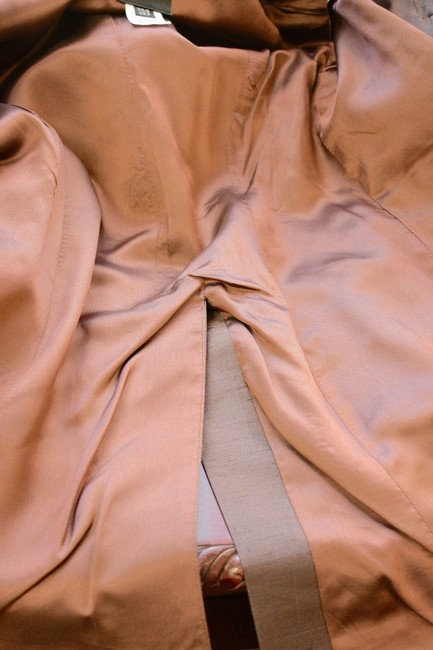Whistles Whistles Brown 100% Silk Pants Suit Made In Italy Size 6 On Sale ps Image 11
