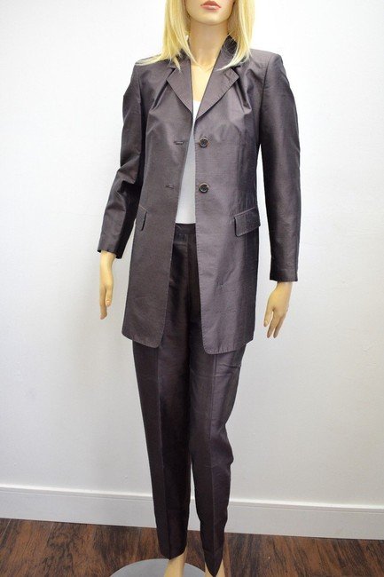 Whistles Whistles Brown 100% Silk Pants Suit Made In Italy Size 6 On Sale ps Image 2