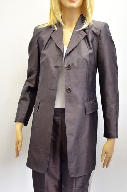 Whistles Whistles Brown 100% Silk Pants Suit Made In Italy Size 6 On Sale ps Image 3