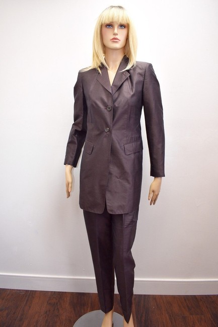 Whistles Whistles Brown 100% Silk Pants Suit Made In Italy Size 6 On Sale ps Image 4