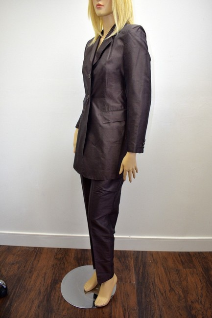 Whistles Whistles Brown 100% Silk Pants Suit Made In Italy Size 6 On Sale ps Image 5