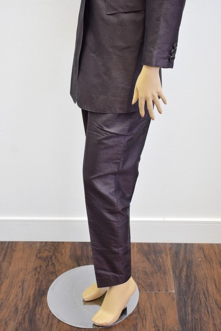 Whistles Whistles Brown 100% Silk Pants Suit Made In Italy Size 6 On Sale ps Image 6