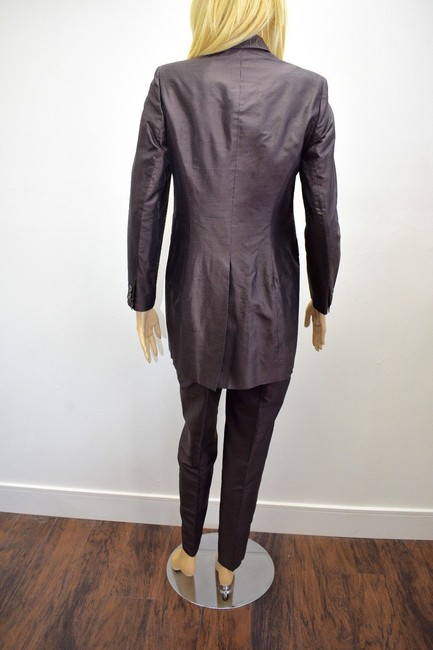 Whistles Whistles Brown 100% Silk Pants Suit Made In Italy Size 6 On Sale ps Image 8