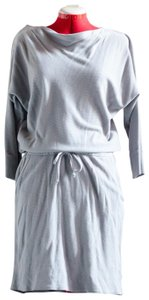 LAmade short dress Steel Gray Drawstring Cowl Thermal on Tradesy