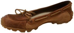 Merrell Perforated Preppy Brown/Camel Flats