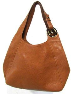 Michael Kors Fulton Large Shoulder Tote Acorn Brown Leather Hobo Bag -  Tradesy c41a0cf9047c7