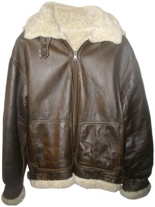 Wilsons Leather Bomber Brown Leather Jacket