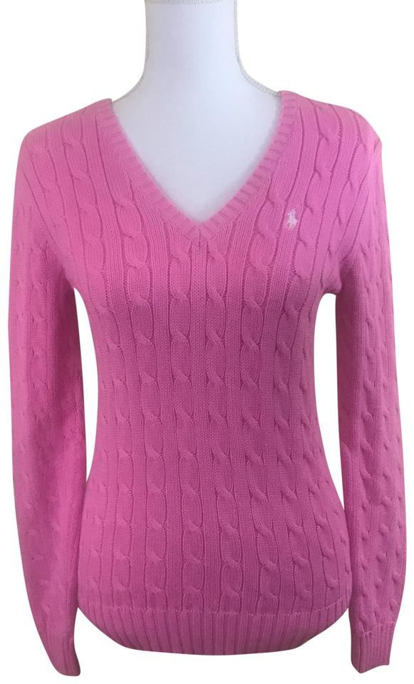 71f05ef56ab3 Polo Ralph Lauren Cable-knit Cotton Pink Sweater - Tradesy