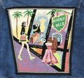 Kolorway Rodeo Drive Los Angeles Beverly Hills Needlepoint Multi-Color Womens Jean Jacket Image 1