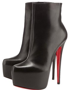 Christian Louboutin Thigh High Daffodile Over Knee Black Ankle Boots