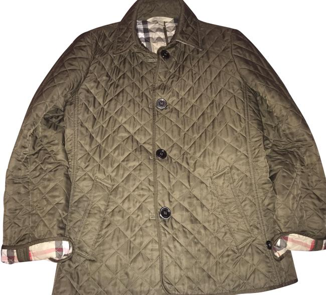 Item - Olive Green Quilted Jacket Size 14 (L)