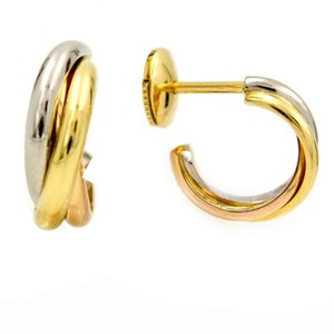 Cartier Cartier Trinity Earrings in 18k White, Rose and Yellow Gold with Pouch