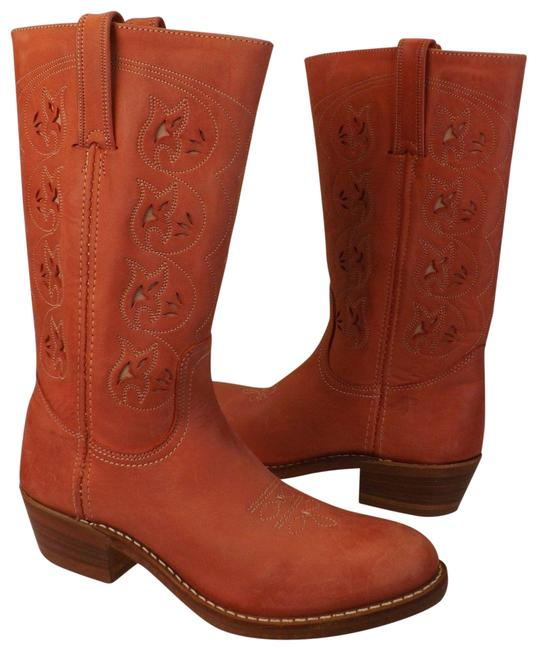 Item - Coral Nwb Distressed Leather Bruce Western Boots/Booties Size US 7.5 Regular (M, B)