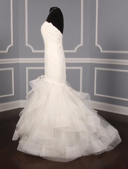 Rivini Ivory Lace Tulle and Horsehair Dolly Formal Wedding Dress Size 16 (XL, Plus 0x) Image 4