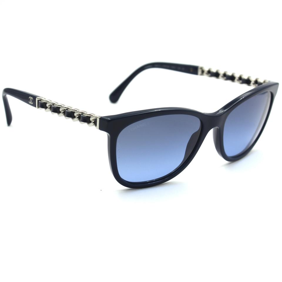 Chanel Blue 5260 Q Square Navy Frame with Lenses Sunglasses - Tradesy